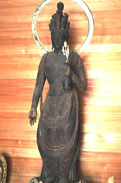 置恩寺 十一面観音立像(国重文, 平安時代11世紀, 172㎝)