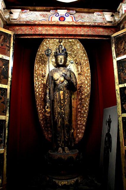 広陵町・正楽寺 十一面観音立像, 県指定文化財, 平安時代末期, 2m超