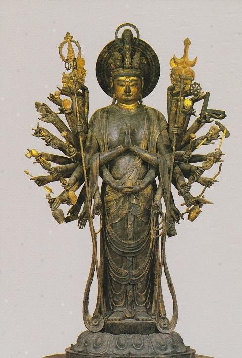 千手観音立像(道成寺,国宝,平安時代)